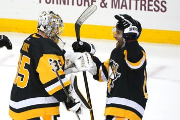 Les Penguins arrachent un victoire aux Rangers en fusillade)