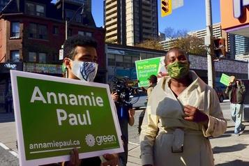 Élection partielle dans Toronto-Centre Le marathon de la nouvelle cheffe des verts)