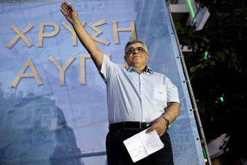 Grèce La cour ordonne l'emprisonnement du chef du parti néonazi Aube dorée)