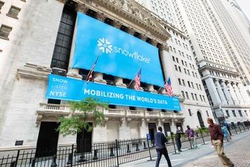 Snowflake fait boule de neige dès son entrée à Wall Street)