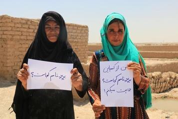 Nom sur les documents officiels Une grande victoire pourlesfemmes afghanes )