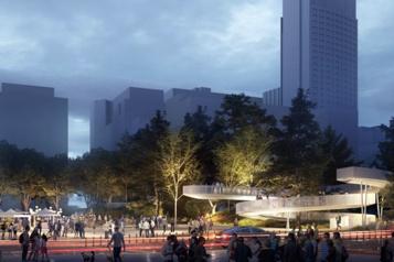 Une petite «forêt urbaine» sur la place des Festivals)