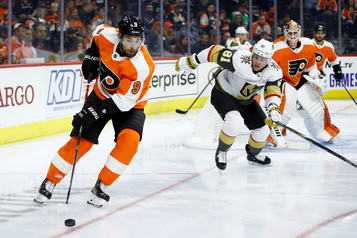 Les Flyers battent les Golden Knights 6-2