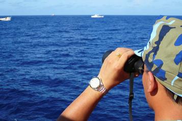 Le Pentagone dénonce des exercices militaires chinois en mer de Chine méridionale)