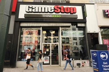 Ventes au détail de jeux vidéo GameStop s'envole à WallStreet)