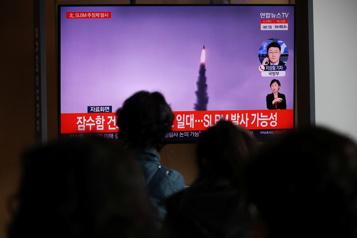 Corée du Nord Tir d'un missile balistique qui aurait été lancé par un sous-marin