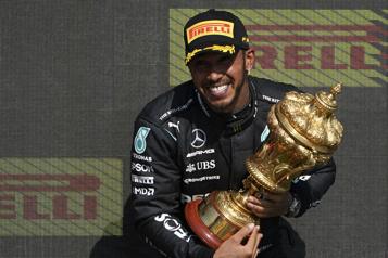 Grand Prix de Grande-Bretagne Lewis Hamilton victorieux pour la huitième fois chez lui)