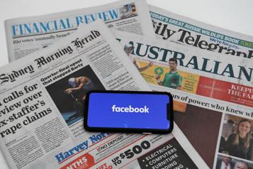Blocage des contenus d'actualité Entente entre Facebook et le gouvernement australien)