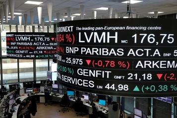 Les Bourses européennes en baisse)