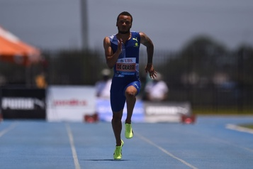 Tom Jones Invitational De Grasse tout juste devancé par Gatlin au 100 m)