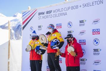 Bobsleigh Le Canadien Justin Kripps obtient le bronze en Suisse)