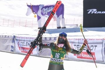 Mikaela Shiffrin s'impose en descente à Bansko