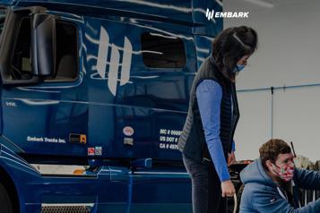 Camions autonomes Embark Trucks entre à WallStreet à 5,16milliards)