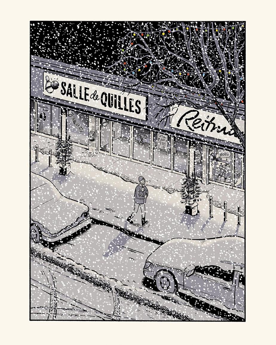 Sous la neige, tirée de Paul à la maison, de Michel Rabagliati