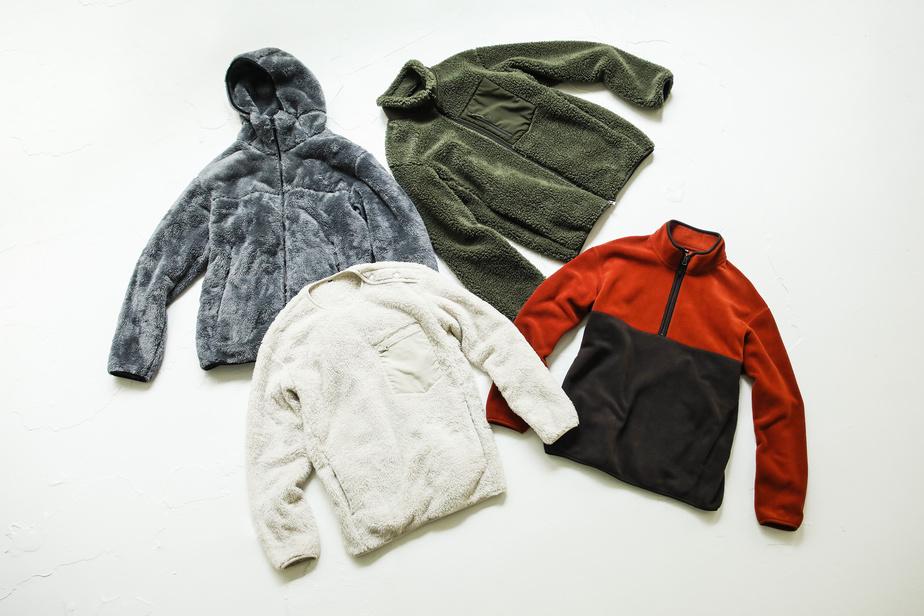 La nouvelle veste polaire est proposée dans plusieurs modèles, dont certains avec coupe-vent ou fabriqués avec du polyester recyclé.