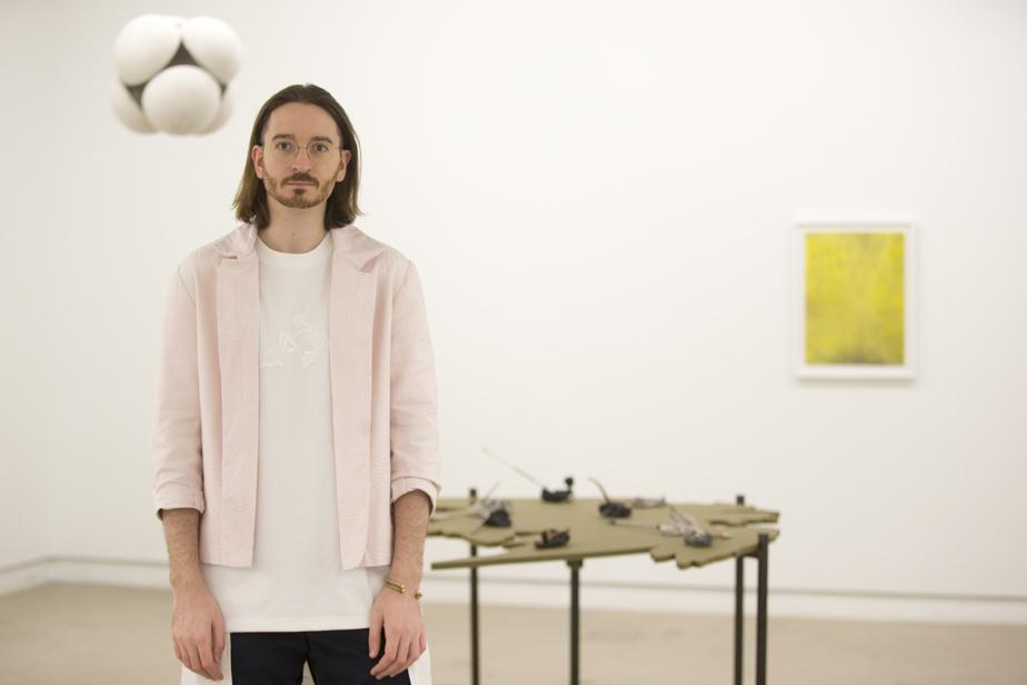 Guillaume Adjutor Provost, au centre d'art Diagonale en 2017.
