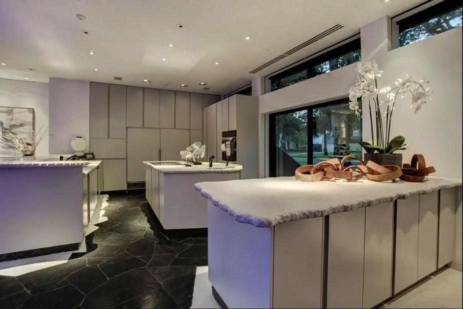 Même les comptoirs de cuisine semblent venus d'une galaxie lointaine, très lointaine.