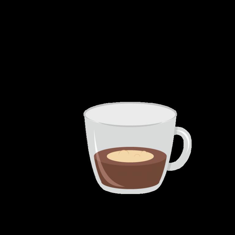 Espresso macchiato (taché en italien)