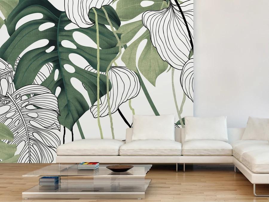 Feuillage graphique, Manon Leblanc Design chez C&M textiles