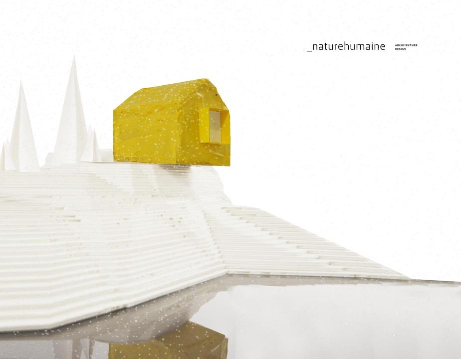 Une maison en pain d'épice peut s'inscrire dans un décor minimaliste, a prouvé l'agence _nature humaine.