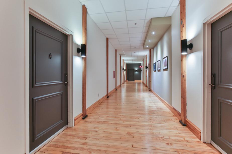 Vue du corridor de l'immeuble