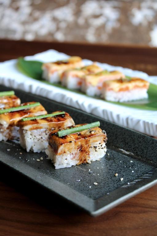 Les oshizushi, des sushis pressés et flambés, sont au menu du Ryú Griffintown.