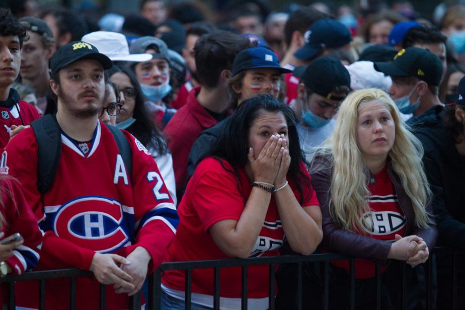 Dans les dernières minutes de la rencontre décisive, les nombreux partisans massés devant le restaurant la Cage, au Centre Bell, avaient les visages longs.