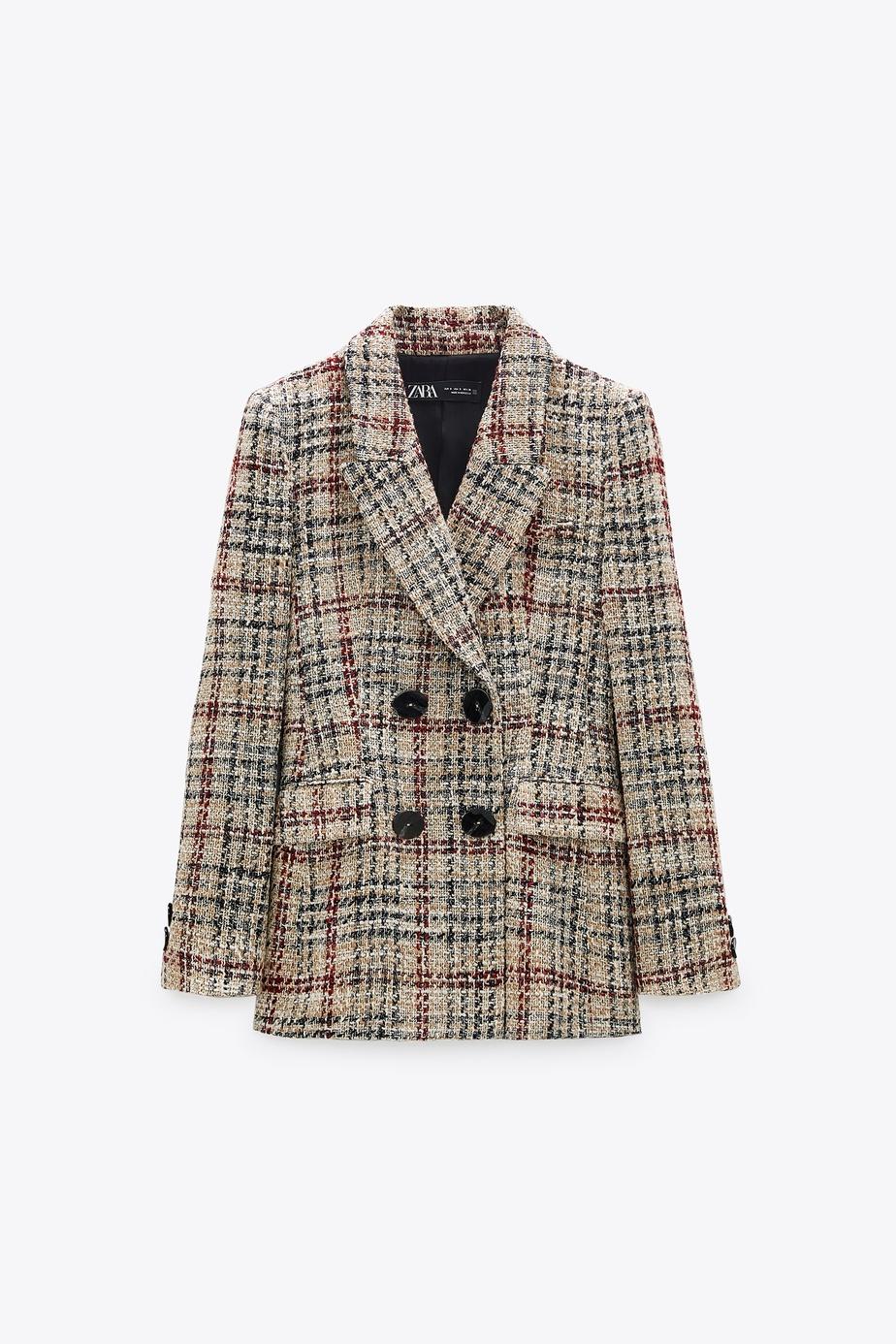 Veston avec col à revers et fermeture à boutonnage croisé, Zara, 119$.