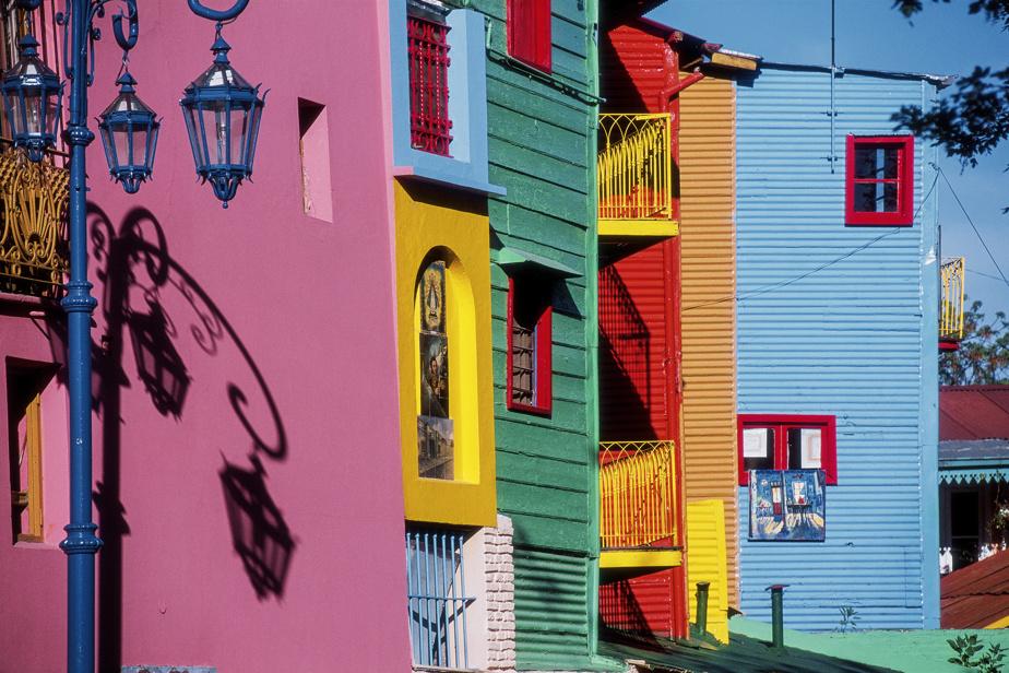 Les façades colorées du quartier de La Boca