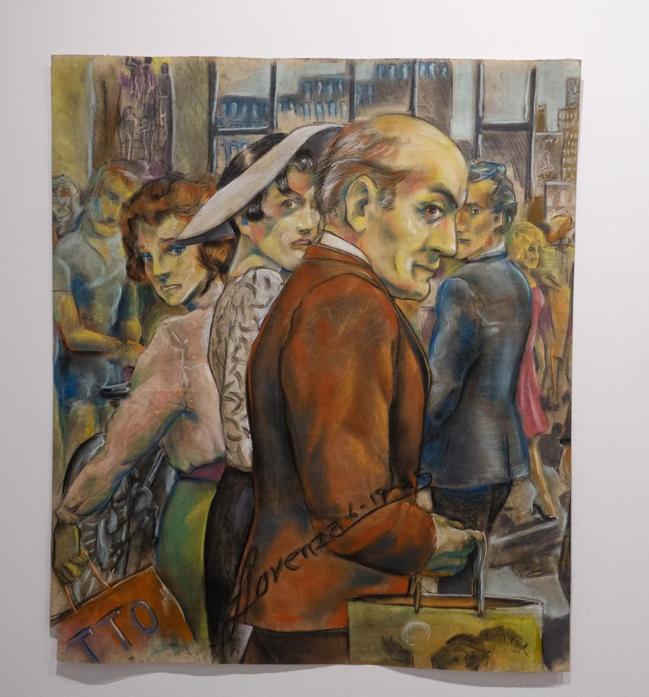 Pastel de Lorenza Böttner rappelant le style de la peinture allemande des années1920 à1940.