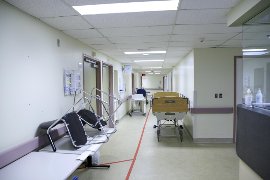 Étage inoccupé de l'hôpital