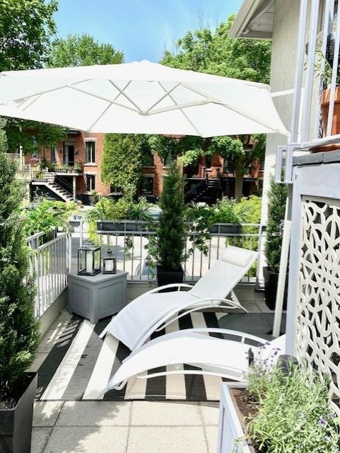 Un balcon de Westmount aménagé par la styliste Marie-Claude Desjardins