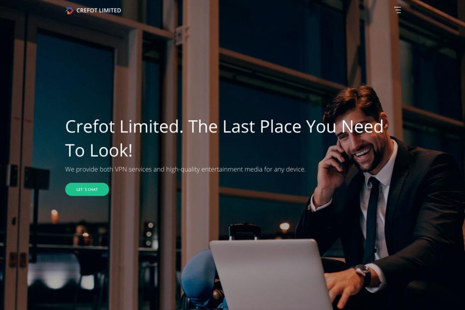 Page d'accueil du site Crefot Limited