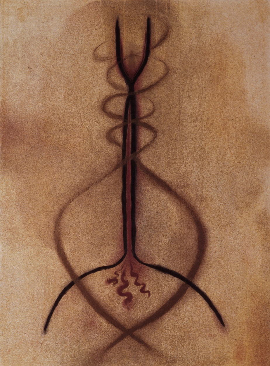 Soif, 2003, Lyne Bastien, monotype, 100cm x 74cm.