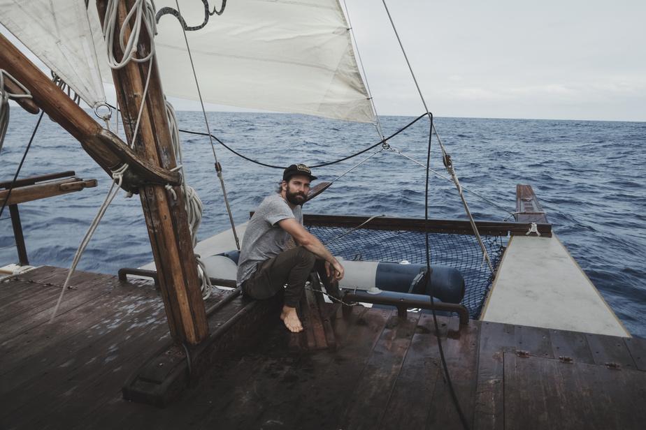 En 2017, Guillaume Beaudoin a traversé l'océan Pacifique sur le pouce.