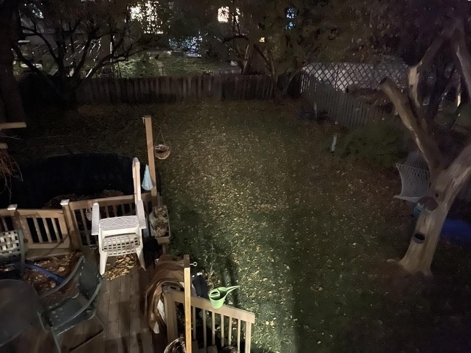Photo de nuit prise avec le iPhone12 Pro Max.