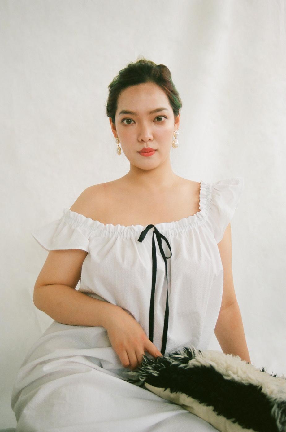 La Party Nightie d'Eliza Faulkner + The Sleep Shirt en coton blanc