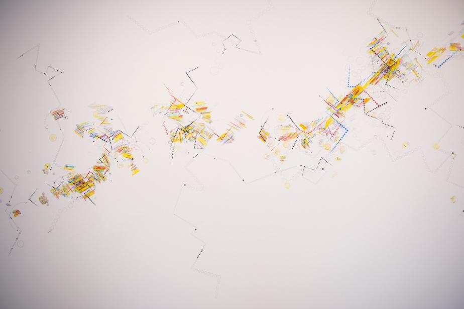 Détail de l'œuvre murale de Suzanne Joos