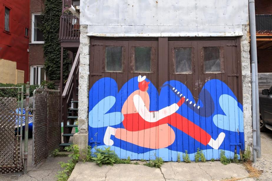 La réputée illustratrice Cécile Gariépy a laissé sa trace sur ce garage du quartier Villeray.