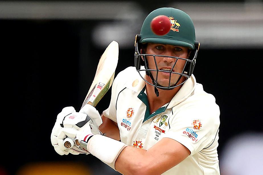 Pat Cummins, joueur australien, lors d'un match contre l'Inde, en janvier dernier, à Brisbane