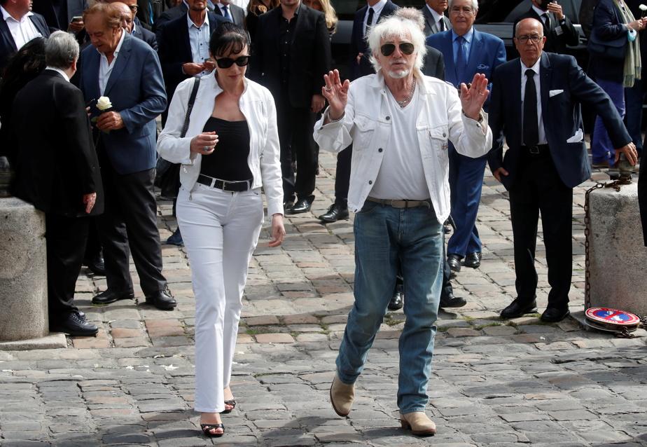 Hugues Aufray et sa compagne Muriel