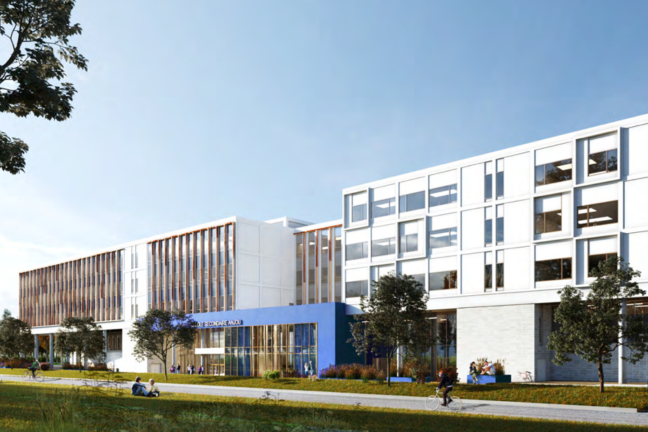 Vue extérieure de la future école secondaire qui sera construite à Anjou