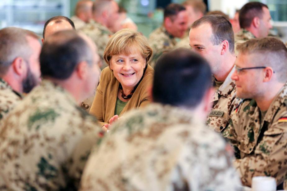 Rencontre avec des soldats allemands à Kunduz, en Afghanistan, en 2013