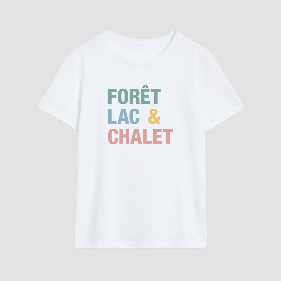T-shirt Forêt lac&chalet, Marlone, 45$