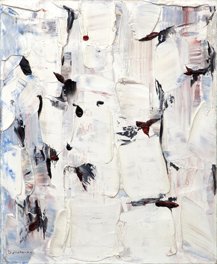 Modulation aux points noirs, 1955, Paul-Émile Borduas (1905-1960), huile sur toile, 61cm x 50,8cm. Estimation: entre 400000$ et 600000$.