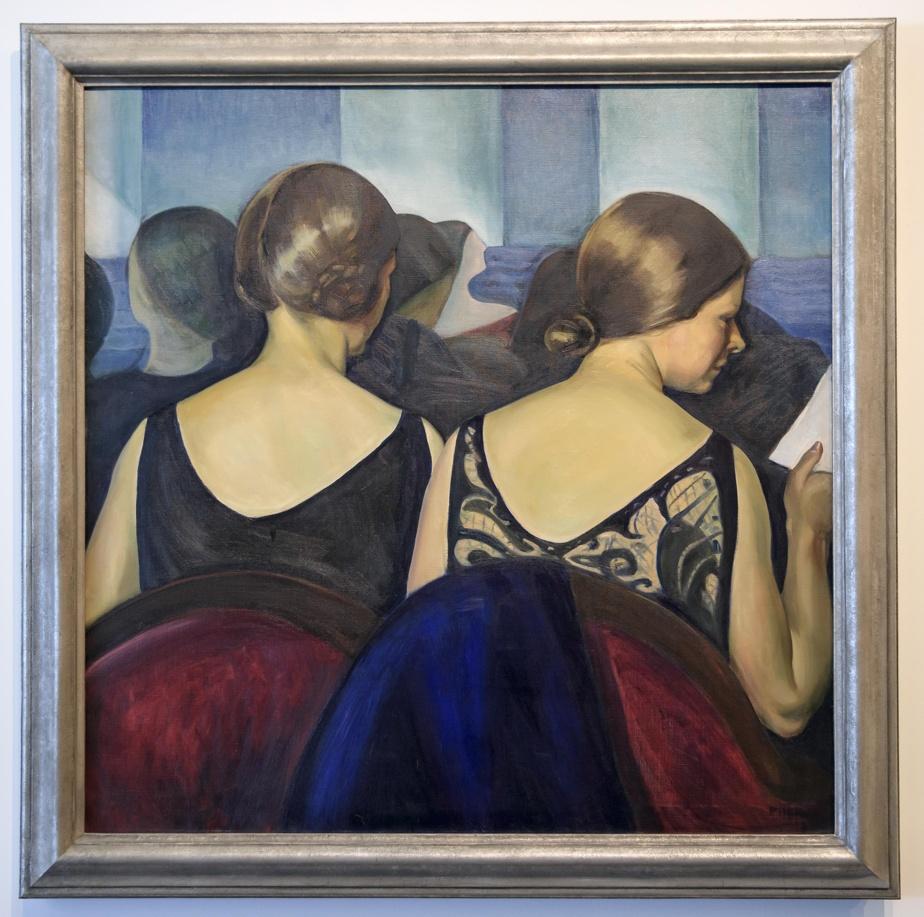 Au théâtre, 1928, Prudence Heward (1896-1947), huile sur toile. Collection MBAM.