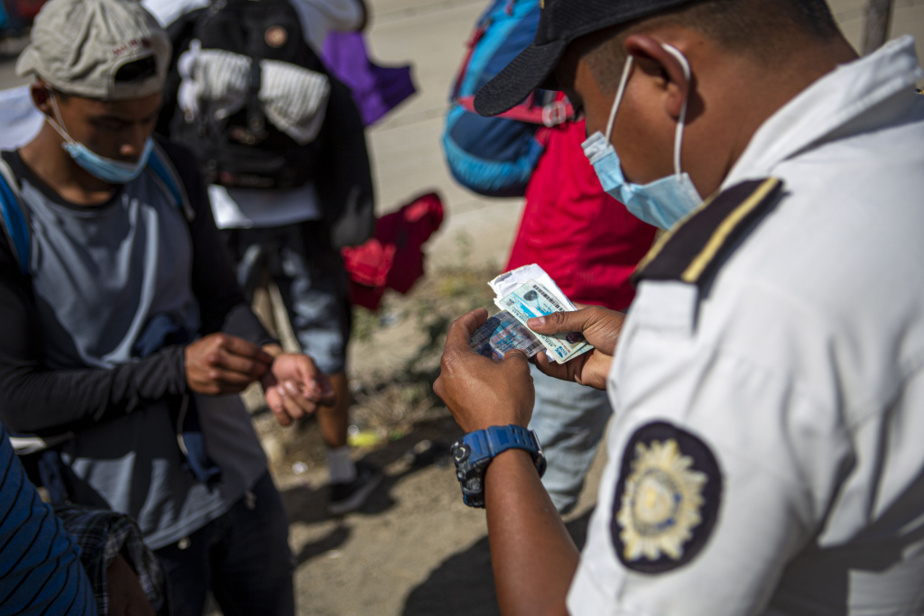 Après l'interpellation des migrants, les forces de l'ordre ont contrôlé leur identité.