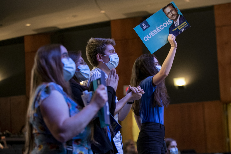 A few supporters were on the eve of the constituency Quebecois election in Montreal.