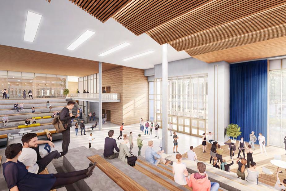 Vue intérieure de la future école secondaire qui sera construite à Montréal-Nord