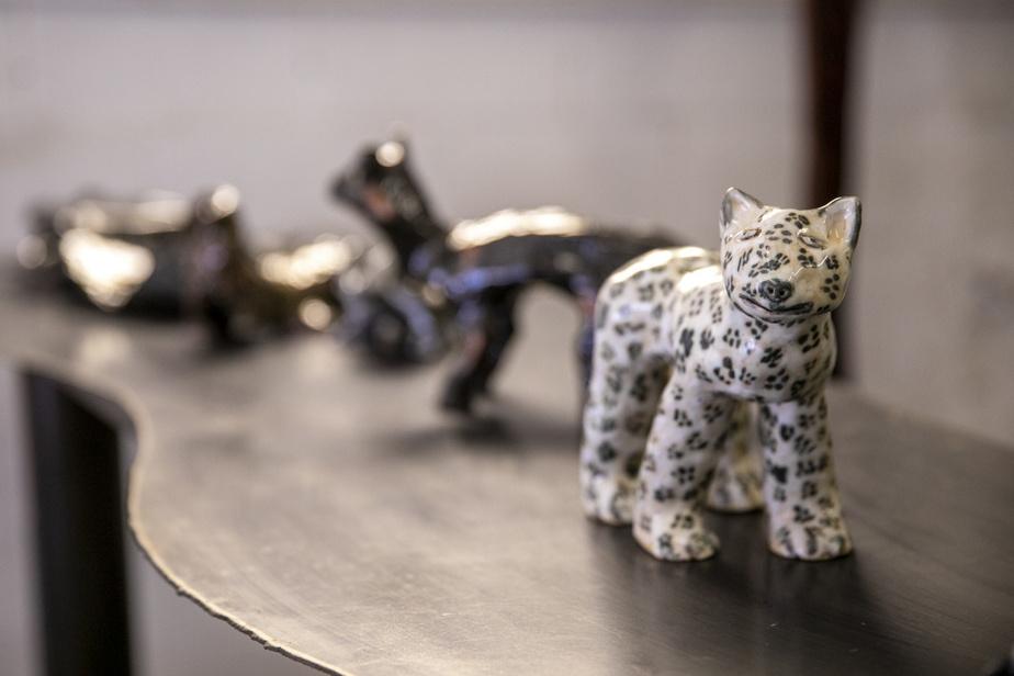 Des sculptures animales en céramique